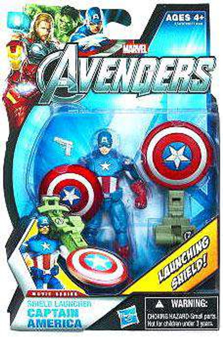 Marvel Avengers Movie Series Shield Launcher Captain America Action Figure [Damaged Package]