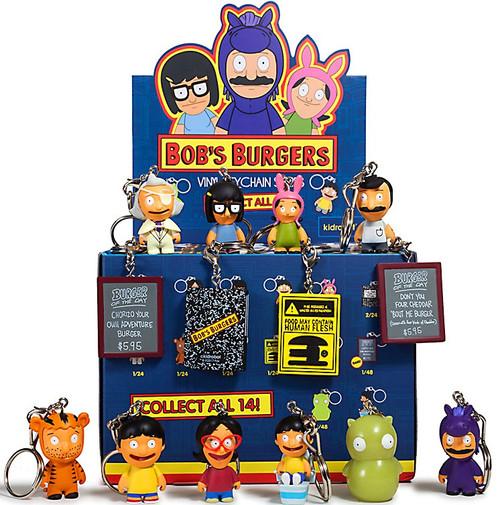 Vinyl Keychains Bob's Burgers 3-Inch Mystery Box [24 Packs]