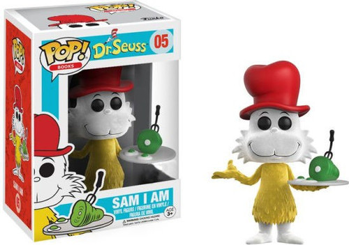 Funko Dr. Seuss POP! Books Sam I Am Exclusive Vinyl Figure #05 [Flocked]