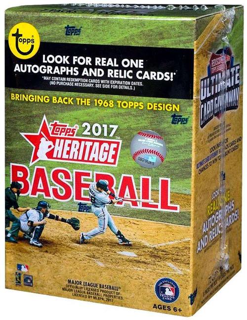 MLB Topps 2017 Heritage Baseball Trading Card BLASTER Box [8 Packs]