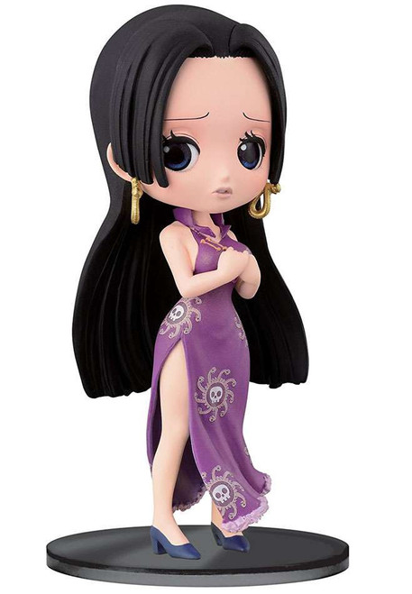 One Piece Q Posket Boa Hancock 5.5-Inch Collectible Figure [Purple Dress]