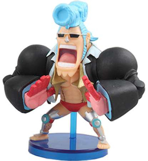 One Piece WCF Fight Franky 2.5-Inch Collectible Figure