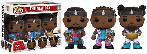 Funko WWE Wrestling POP! Sports The New Day (Booty O's) Exclusive Vinyl Figure 3-Pack [Big E, Xavier Woods & Kofi Kingston]