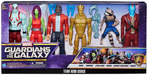 Marvel Guardians of the Galaxy Vol. 2 Titan Hero Series Drax, Gamora, Star-Lord, Groot, Rocket & Yondu Exclusive Action Figure 6-Pack