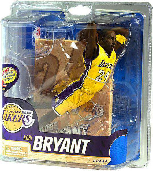 McFarlane Toys NBA Los Angeles Lakers Sports Picks Series 20 Kobe Bryant Action Figure [Yellow Jersey, Damaged Package]