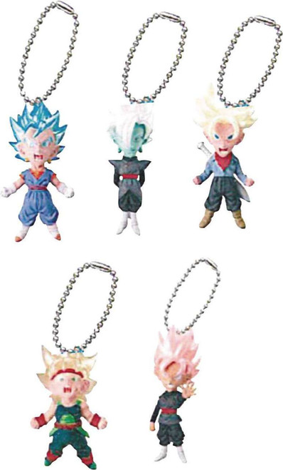 Dragon Ball Super UDM Mini Mascot Collection Mascot Charm 1.6-Inch Mystery Box [18 Packs]