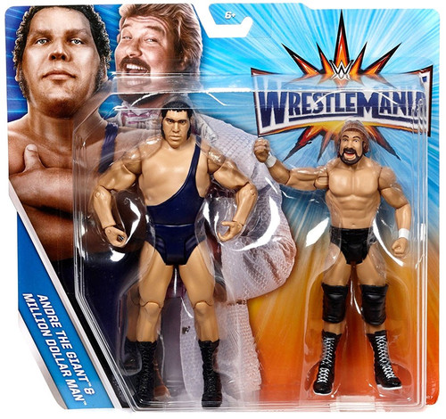 WWE Wrestling Battle Pack WrestleMania IV Andre The Giant & Million Dollar Man Action Figure 2-Pack