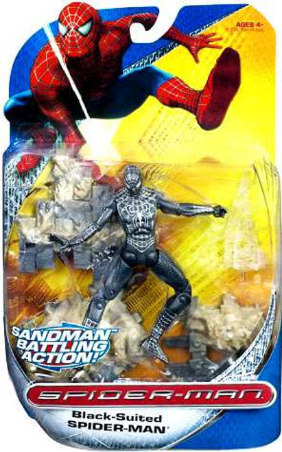 Spider-Man Movie Spider-Man Trilogy Black-Suited Spider-Man Action Figure [Sandman Battling Action!]