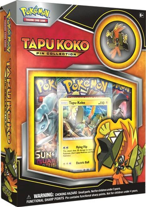 Pokemon Trading Card Game Sun & Moon Guardians Rising Tapu Koko Pin Collection [3 Booster Packs, Promo Card & Pin]