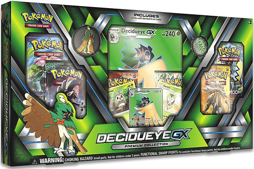 Pokemon Trading Card Game Sun & Moon Decidueye-GX Premium Collection [6 Booster Packs, 3 Promo Cards, Pin & Coin]