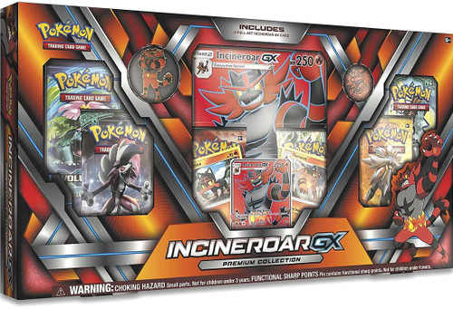 Pokemon Trading Card Game Sun & Moon Incineroar-GX Premium Collection [6 Booster Packs, 3 Promo Cards, Oversize Card, Pin & Coin]