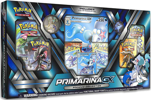 Pokemon Trading Card Game Sun & Moon Primarina-GX Premium Collection [6 Booster Packs, 3 Promo Cards, Oversize Card, Pin & Coin]
