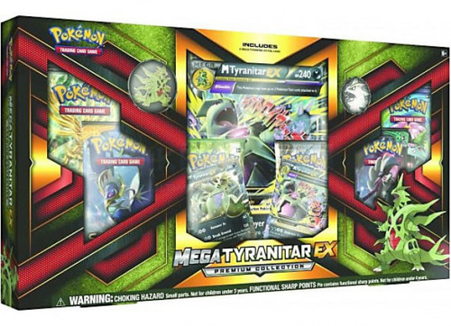 Pokemon Trading Card Game Sun & Moon Mega Tyranitar-EX Premium Collection [6 Booster Packs, 3 Promo Cards, Pin & Coin]