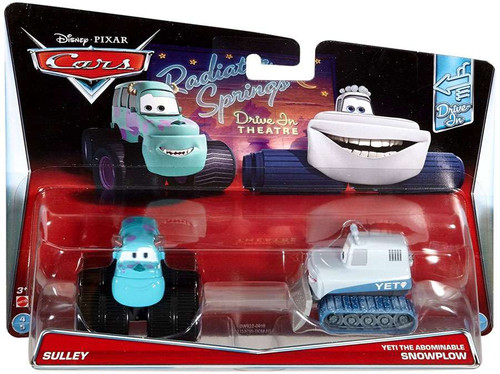 Disney / Pixar Cars Drive-In Sulley & Yeti the Abominable Snowplow Diecast Car 2-Pack #4/5 & 5/5