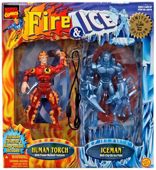 Marvel Human Torch & Iceman Action Figure 2-Pack [Fire & Ic]