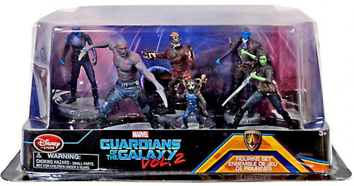 Disney Marvel Guardians of the Galaxy Vol. 2 Exclusive 6-Piece PVC Figure Play Set