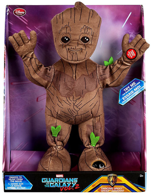 Disney Marvel Guardians of the Galaxy Vol. 2 Dancing Groot Exclusive 13-Inch Feature Plush
