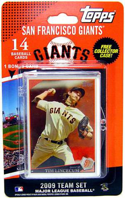 MLB 2009 Topps Baseball Cards San Francisco Giants Team Set