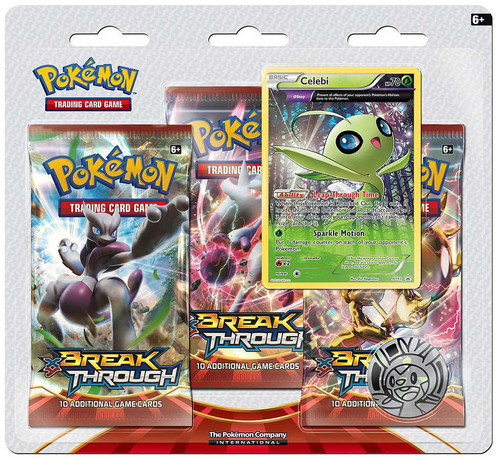 Pokemon Trading Card Game XY BREAKthrough Celebi Special Edition [3 Booster Packs, Promo Card & Coin]