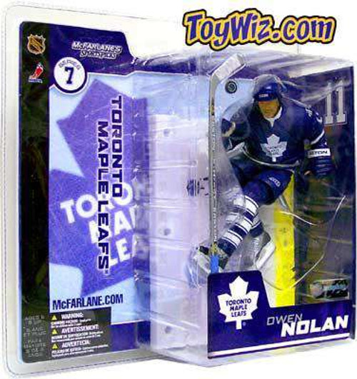 McFarlane Toys NHL Toronto Maple Leafs Sports Picks Series 7 Owen Nolan Action Figure [Blue Jersey Variant, Damaged Package]