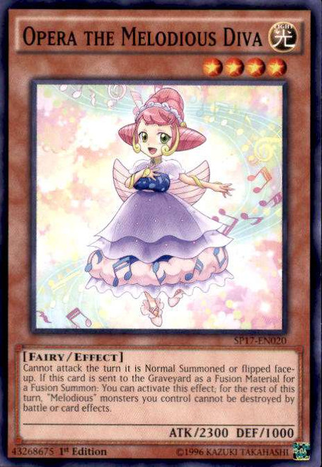 YuGiOh Star Pack Battle Royal Common Opera the Melodious Diva SP17-EN020