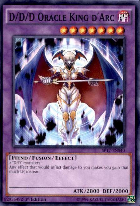 YuGiOh Star Pack Battle Royal Common D/D/D Oracle King d'Arc SP17-EN040