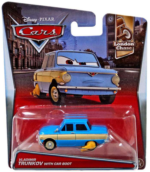 Disney / Pixar Cars London Chase Vladimir Trunkov with Car Boot Diecast Car #3/11
