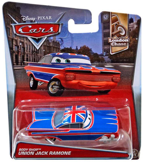 Disney / Pixar Cars London Chase Body Shop Union Jack Ramone Diecast Car #2/11