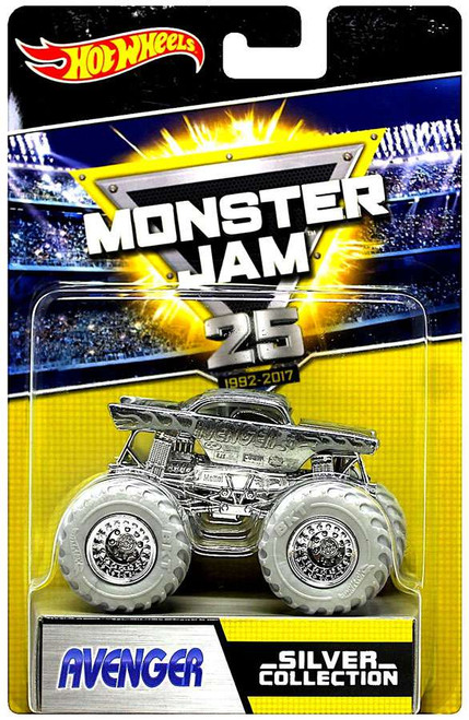 Hot Wheels Monster Jam 25 Silver Collection Avenger Die-Cast Car
