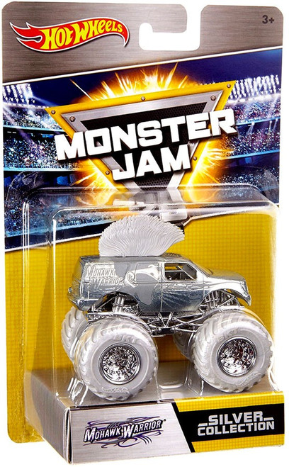 Hot Wheels Monster Jam 25 Silver Collection Mohawk Warrior Die-Cast Car