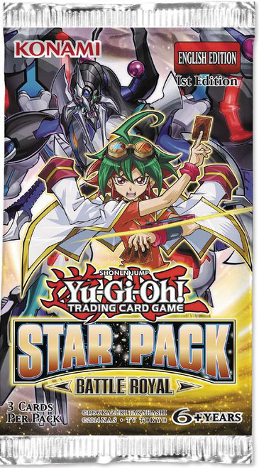 YuGiOh Trading Card Game Star Pack Battle Royal Booster Pack