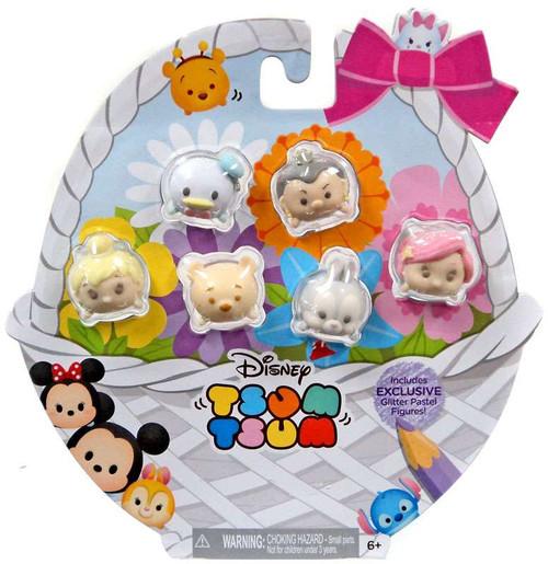Disney Tsum Tsum Glitter Pastel Exclusive 1-Inch Minifigure 6-Pack