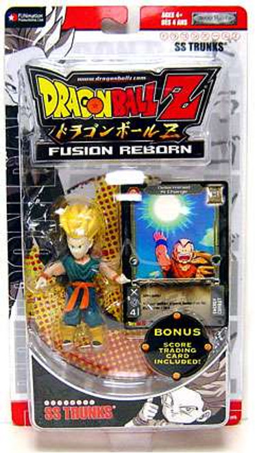 Dragon Ball Z Fusion Reborn SS Trunks Action Figure [Red Packaging - Includes Trading Card, Damaged Package]