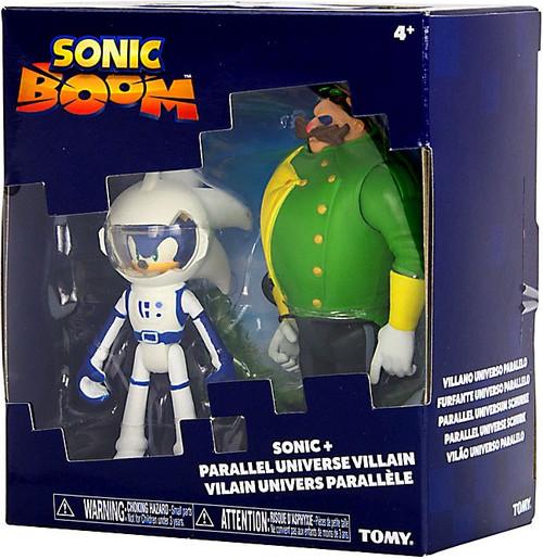 Sonic The Hedgehog Sonic Boom (Spacesuit) Sonic & Parallel Universe Villain (Dr. Eggman) Action Figure 2-Pack
