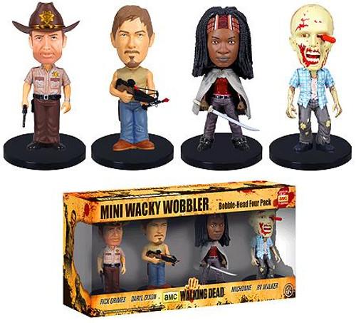 Funko Wacky Wobbler The Walking Dead Bobble Heads 4-Pack