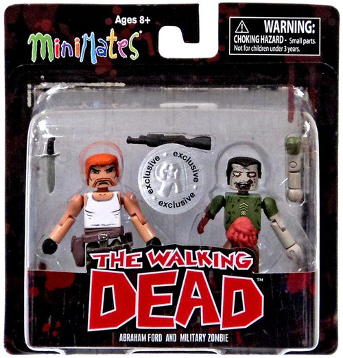 The Walking Dead Minimates Series 5 Abraham Ford & Military Zombie Exclusive Minifigure 2-Pack
