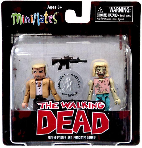 The Walking Dead Minimates Series 5 Eugene Porter & Emaciated Zombie Exclusive Minifigure 2-Pack