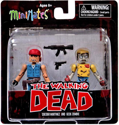 The Walking Dead Minimates Series 5 Caesar Martinez & Geek Zombie Minifigure 2-Pack