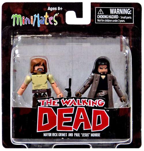 "The Walking Dead Comic Minimates Series 7 Mayor Rick Grimes & Paul ""Jesus"" Monroe Minifigure 2-Pack"