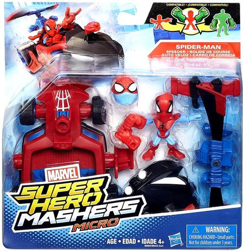Marvel Super Hero Mashers Micro Spider-Man & Speeder Mini Figure Set