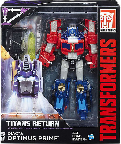 Transformers Generations Titans Return Diac & G2 Optimus Prime Voyager Action Figure [Damaged Package]