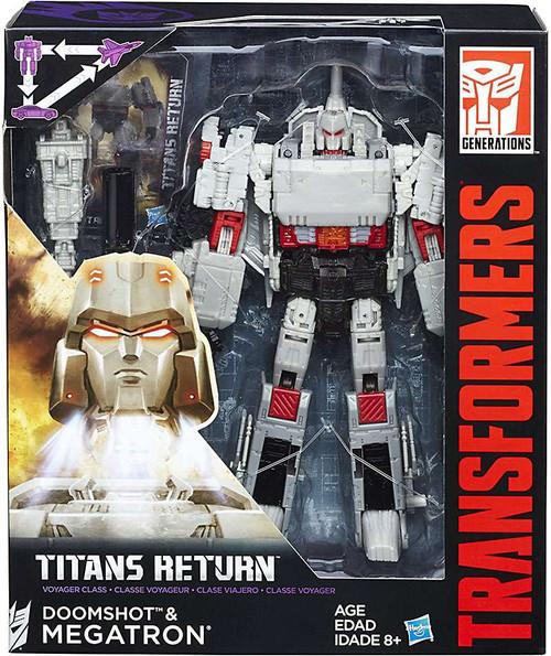 Transformers Generations Titans Return Doomshot & G1 Megatron Voyager Action Figure [Damaged Package]