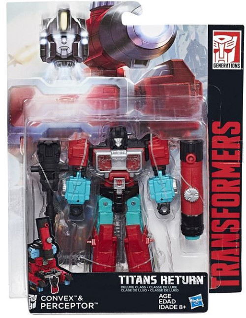 Transformers Generations Titans Return Convex & Perceptor Deluxe Action Figure