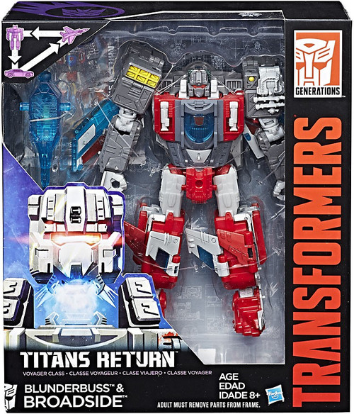 Transformers Generations Titans Return Broadside & Blunderbuss Voyager Action Figure