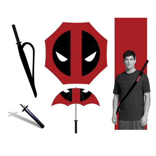Marvel Deadpool Katana Umbrella Apparel