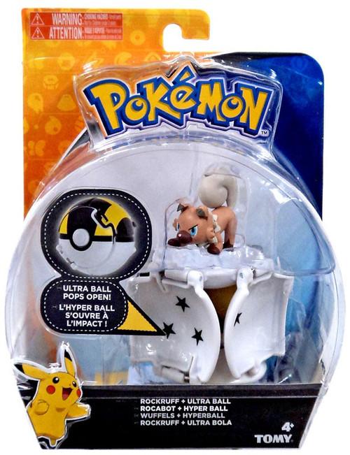 Pokemon Throw 'n' Pop Pokeball Rockruff & Ultra Ball Figure Set