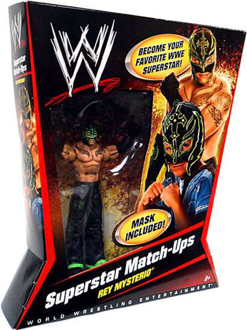 WWE Wrestling Superstar Match-Ups Rey Mysterio Action Figure [Lime Green & Black Mask]