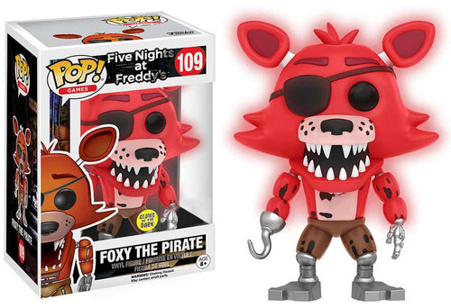 Funko Five Nights at Freddy's POP! Games Foxy The Pirate Exclusive Vinyl Figure #109 [Glow-in-the-Dark]