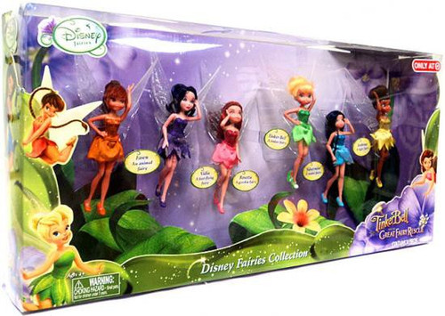 Disney Fairies Tinker Bell and the Great Fairy Rescue Tinker Bell, Fawn, Iridessa, Rosetta, Silvermist & Vidia Action Figure 6-Pack