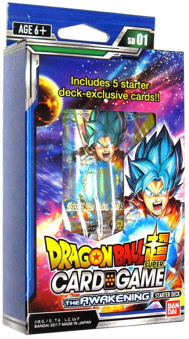 Dragon Ball Super Collectible Card Game The Awakening Starter Deck DBS-SD01